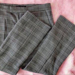 Zara Plaid Kick Flare Pants